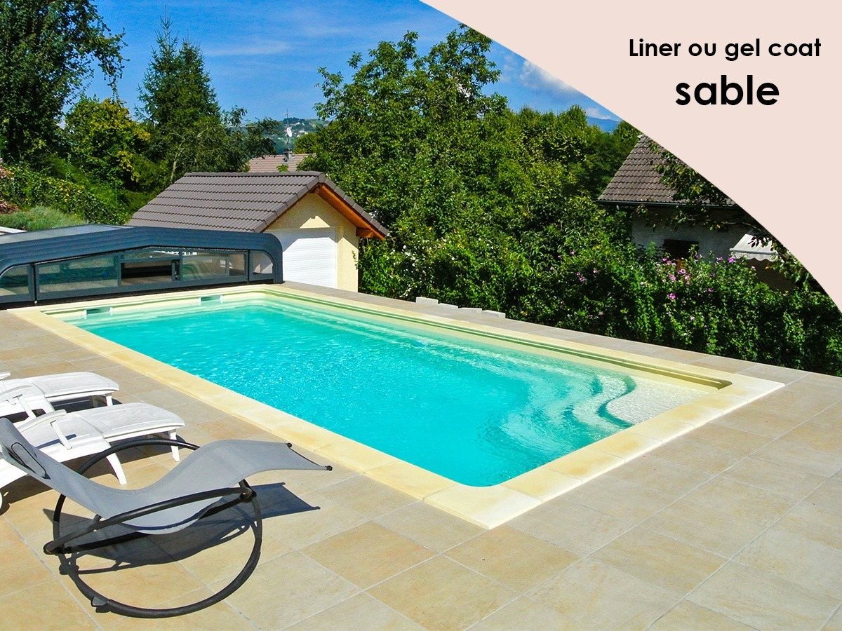 Construction piscine avec savoie piscines spas for Liner couleur sable piscine