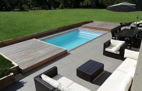 piscine rolling deck ouverture